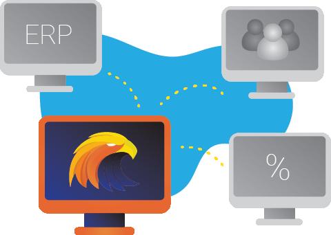 Integraatio ERP - järjestelmiin, kuten Lemonsoft, C9000 ja Visma