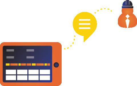 Il monitoraggio delle macchine di produzione consente anche una connessione chat con i supervisori del lavoro