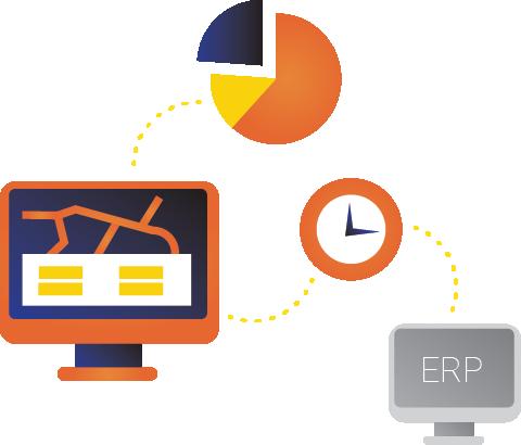 Saatlik program ve saatlik kayıt kolayca finansal yönetime aktarılır