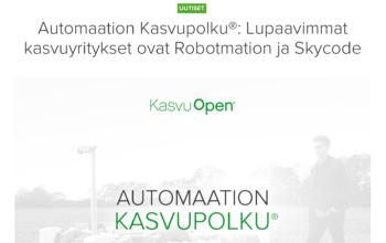 Kasvu Open: Skycode lupaavimpia automaatio-yrityksiä 2021!